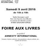 Foire aux Livres à Savigny ; Samedi 9 Avril 2016