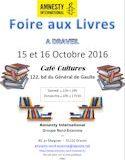 15 & 16 Octobre 2016, Foire aux livres à DRAVEIL