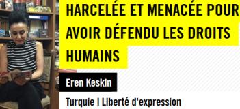 Action Urgente : Turquie – Non à la persécution d'Eren Keskin