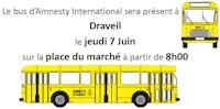 Bus d'Amnesty International  à  Draveil le jeudi 7 Juin 2018