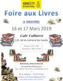 16 & 17 mars 2019, Foire aux livres à DRAVEIL